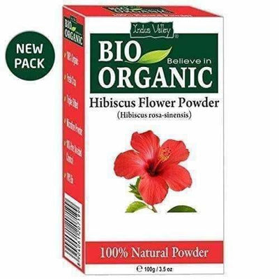 Indus Valley Organic Hibiscus and Reetha Powder with Tulsi, 300g - Dista Cart