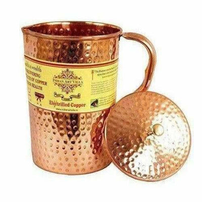 Copper Pitcher with 2 Glasses - Dista Cart