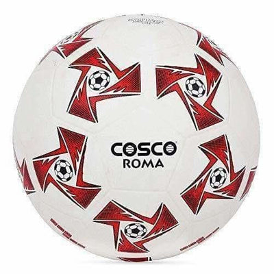 Cosco Roma Foot Ball, Size 5 (White/Red)