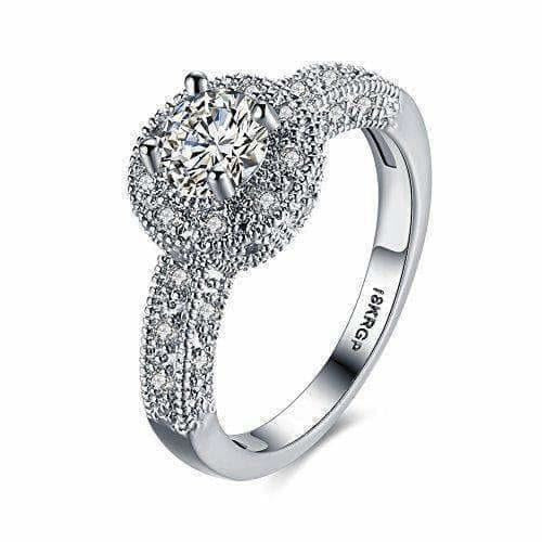 Crystal Royal Queen Sterling Silver Plated Ring - Distacart