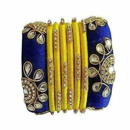 Silk Thread Bangles Set of 8