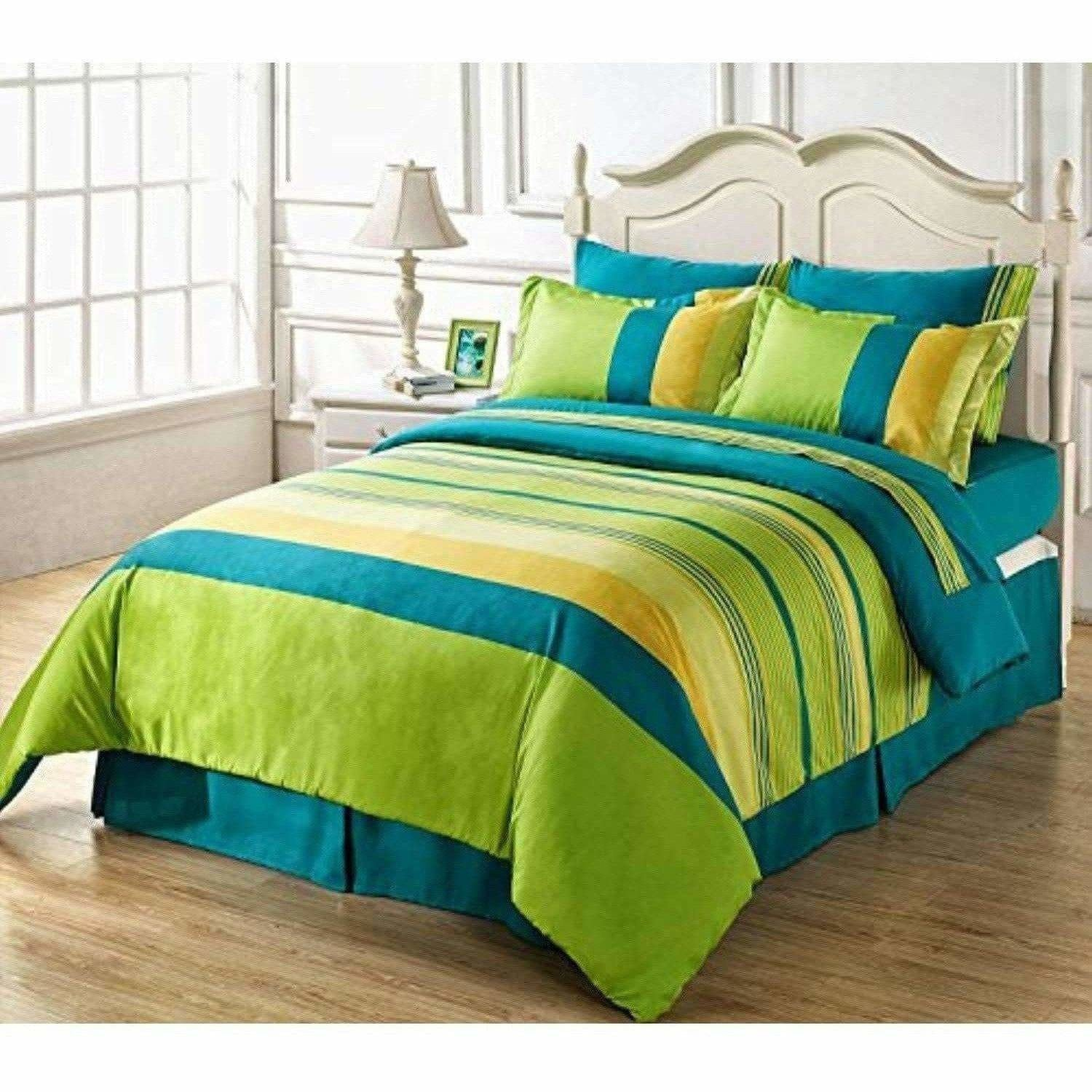 Cotton Double Bedsheet with 2 Pillow Covers - Multicolour