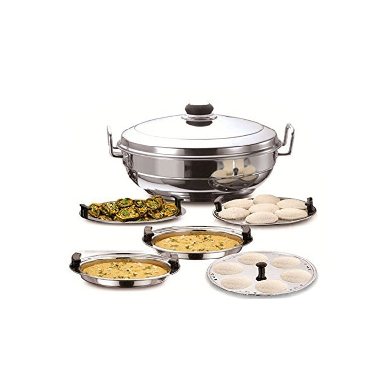 Kitchen Sandwich Bottom Multi kadai Idly Cooker Dhokla and Plate - Dista Cart