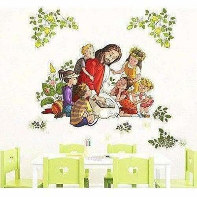 Lord Jesus with Kids Wall Sticker