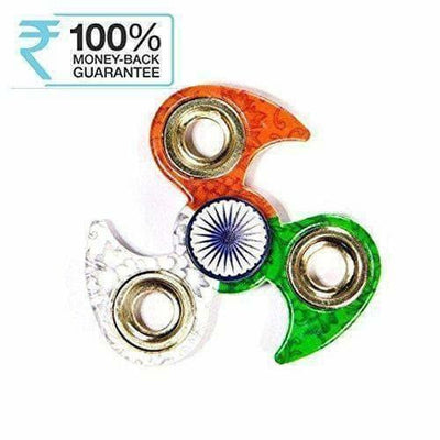 Indian Flag Tri Colour Print Fidget Metal Hand Spinner, Multi Color