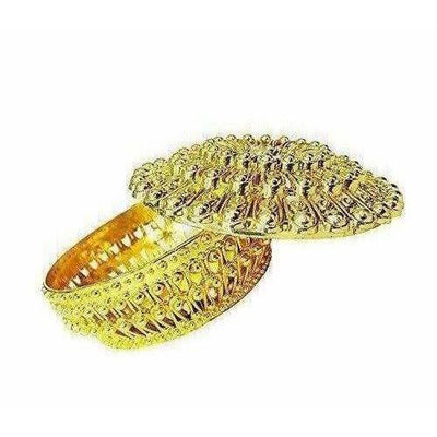 Golden - Decorative Organza Potli Basket (Pack Of 6)