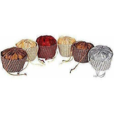 Multicolour Jute Potli Bag - Set of 6 - Distacart