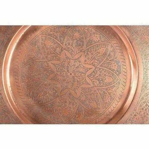 Big Size Brown Pooja Thali Pooja Work ship Plate Thali - Pooja Temple - Dista Cart