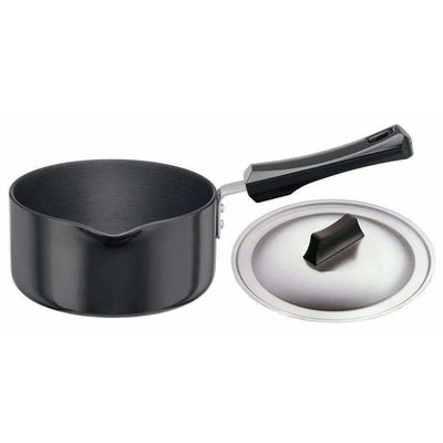 Hard Anodised Sauce Pan with Steel Lid