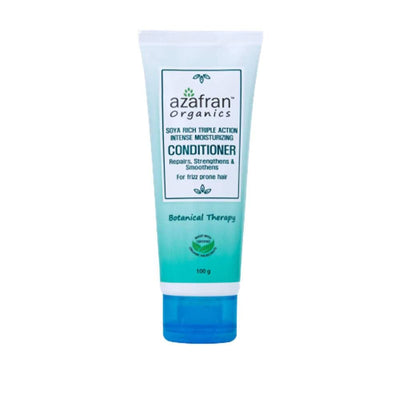 Azafran Organics Soya Rich Triple Action Intense Moisturizing Conditioner - Distacart