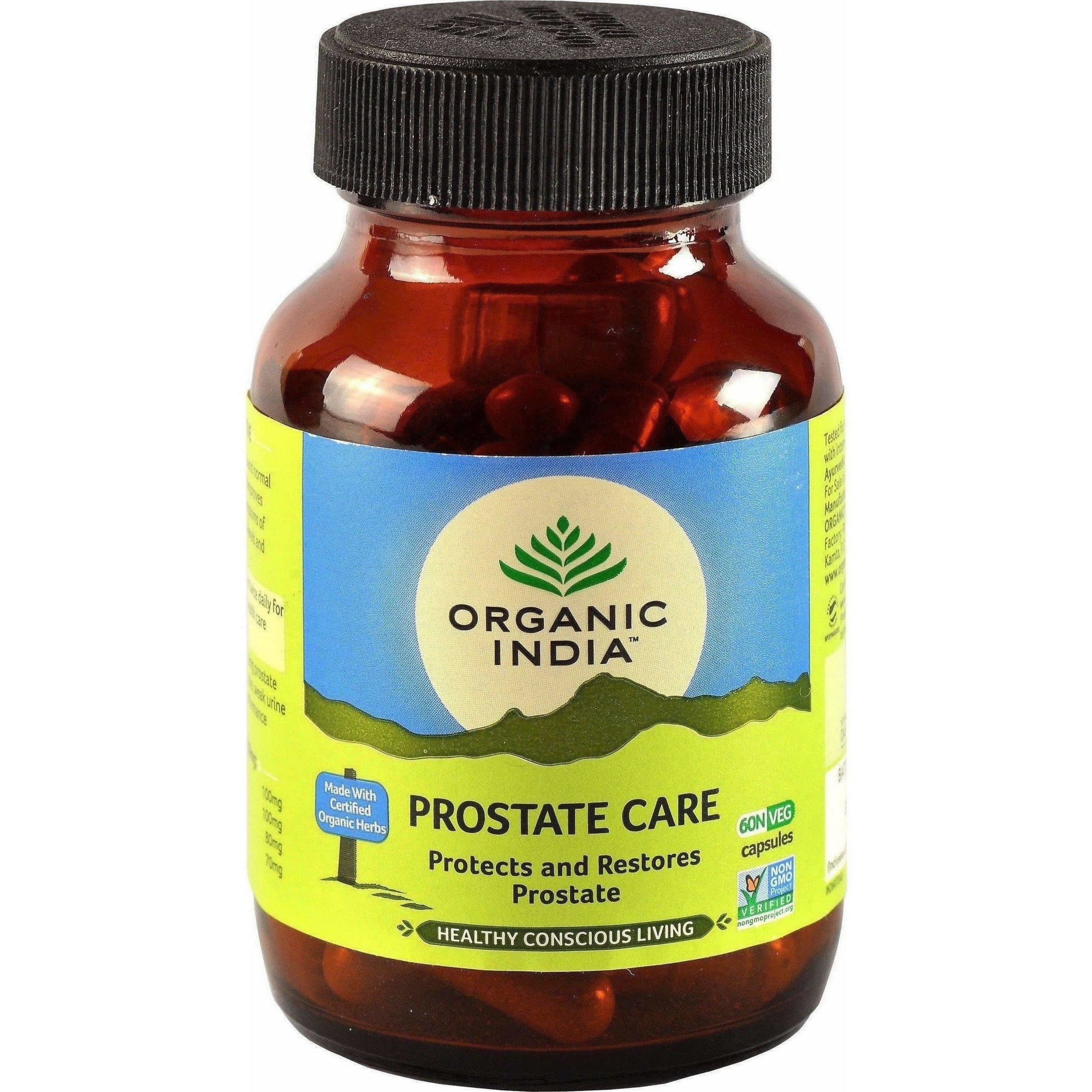Organic India Prostate Care 60 Capsules Bottle