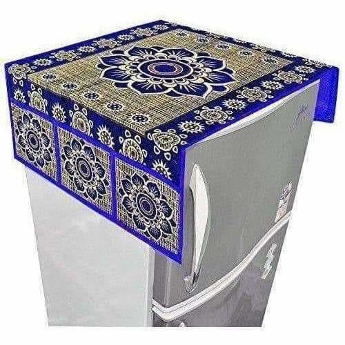 Cotton Refrigerator Cover Set - Blue - Dista Cart