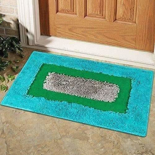 Cotton Blend Diana Door Mat/Bath Mat - Blue Color - Dista Cart