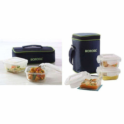 Glass Tiffin Set, 320ml, Set of 2