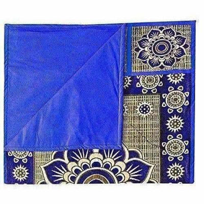 Cotton Refrigerator Cover Set - Blue