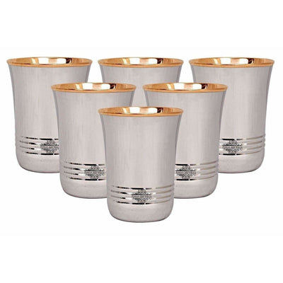 Copper Glass Tumbler Set, Drink ware - 6 Pieces