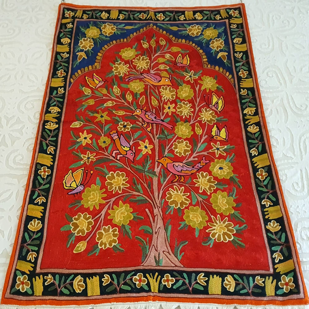 The Decor Nook Hand Embroidered Crewel Wall Hanging - Distacart