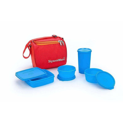 Plastic Lunch Box Set with Bag Set, 5-Pieces