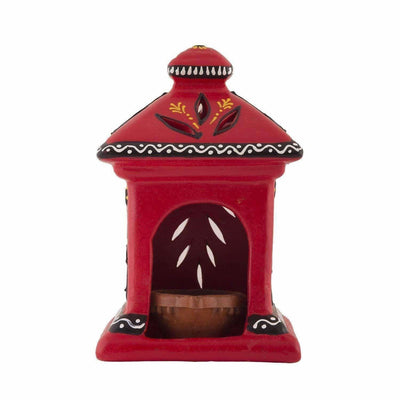 Handmade Hut Lamp / Terracotta / Diwali Diya/ Tealight / Oil Lamp - Dista Cart