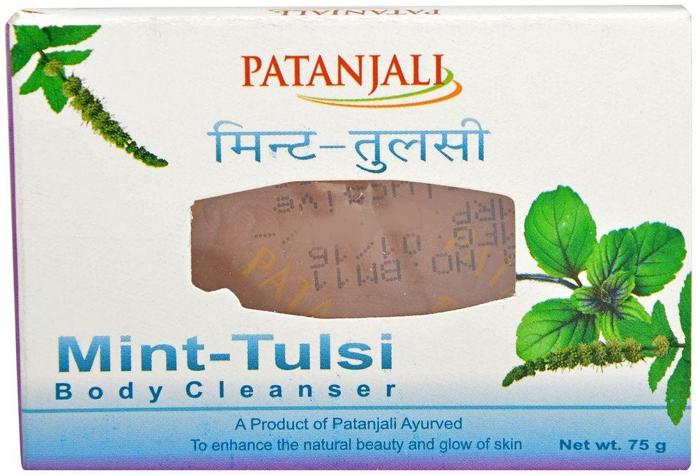 Patanjali Mint - Tulsi Body Cleanser Soap 75GM - Distacart
