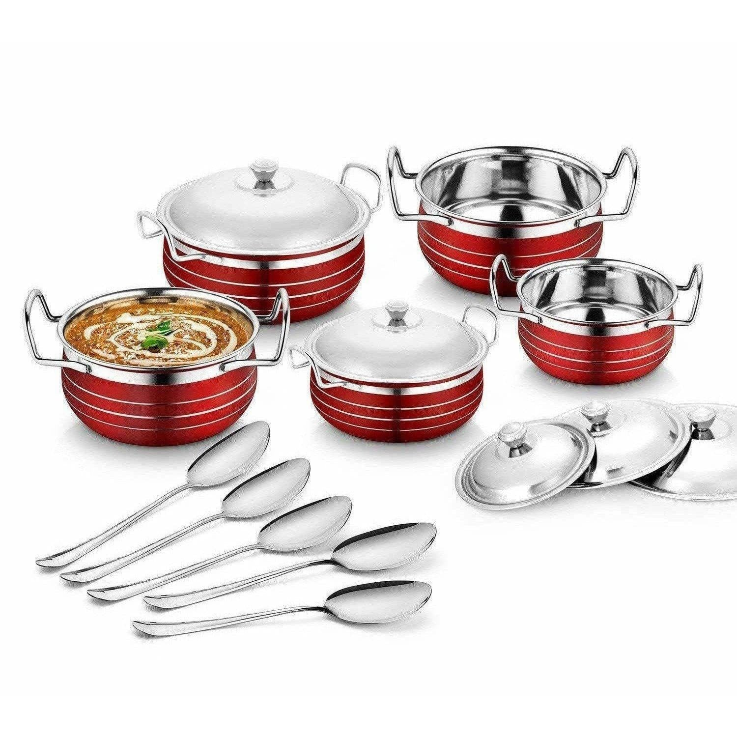 Stainless Steel Handi Copper Set (10-Pieces) - Distacart
