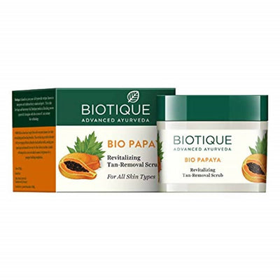 Biotique Bio Papaya Revitalizing Tan-Removal Scrub - Distacart