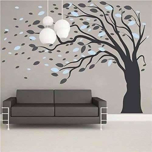 Beautiful Giant Large Tree for Living Room (9.3(L) Feet * 7.1(H) Feet) Wall Sticker