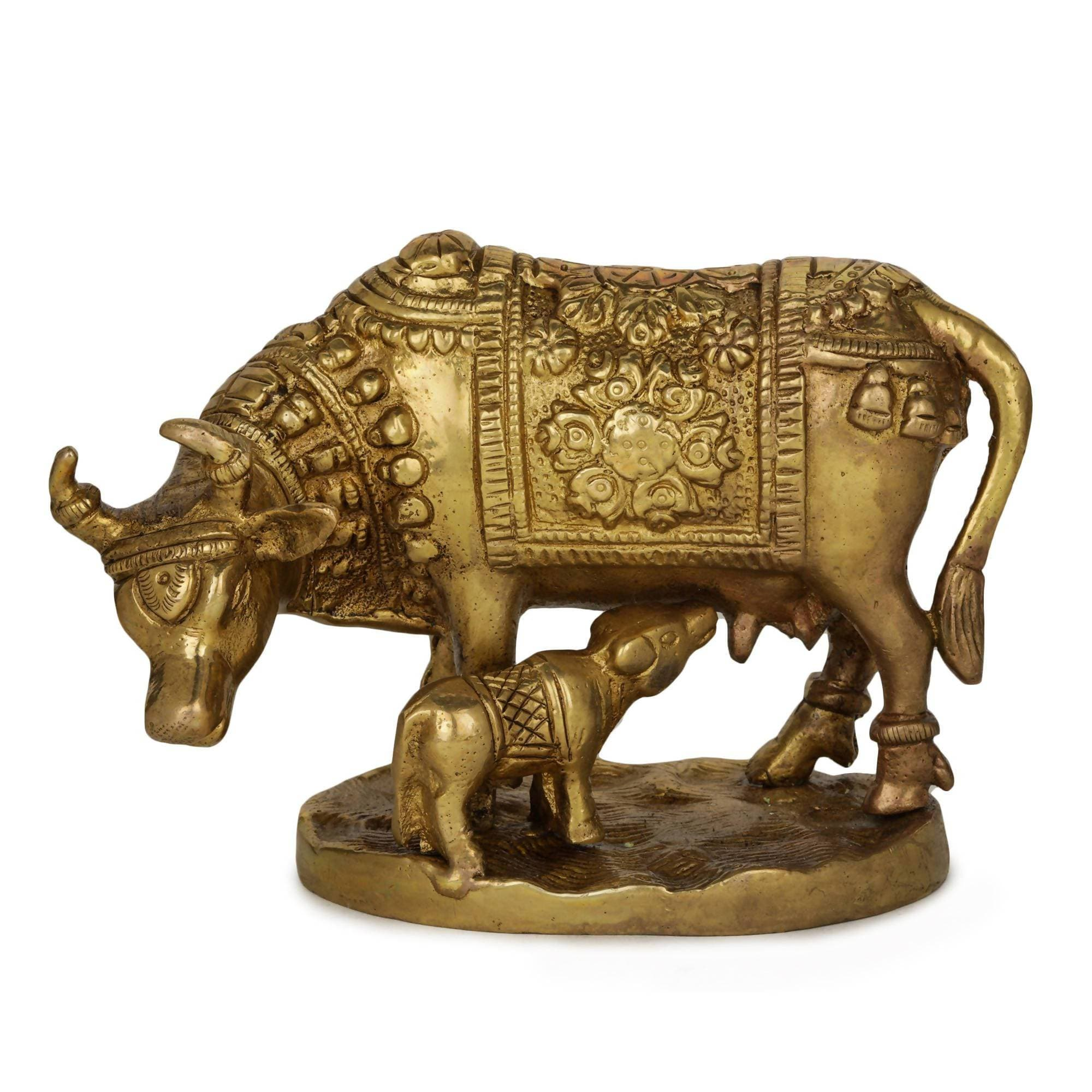 Devlok Lord Krishna's Kamdhenu Cow with Calf Idol