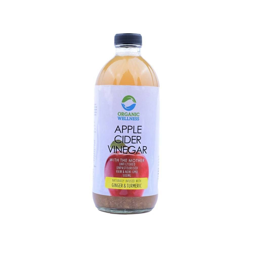 Organic Wellness Apple Cider Vinegar with Mother, Ginger & Turmeric