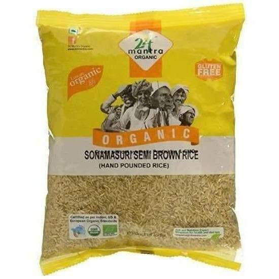 24 Mantra Organic Sonamasuri Raw Semi Brown Rice