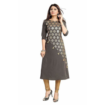 Crepe with Thread Designer Kurti