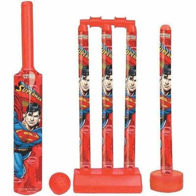 Cricket Set with 1 Plastic Bat & Ball, 4 Wickets, Base and Ball Cricket Kit