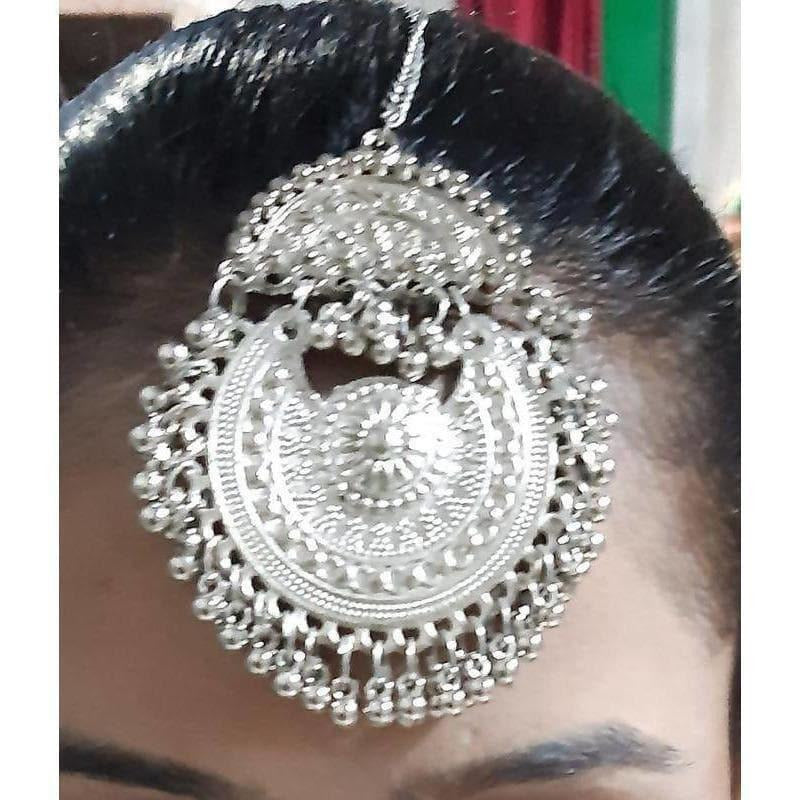 Oxidized Silver Fashion Maang Tikka