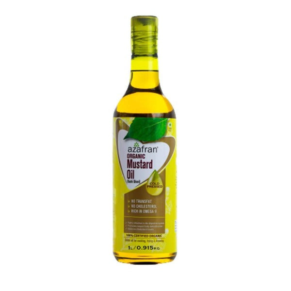 Azafran Organic Mustard Oil (Cold Pressed) - Distacart