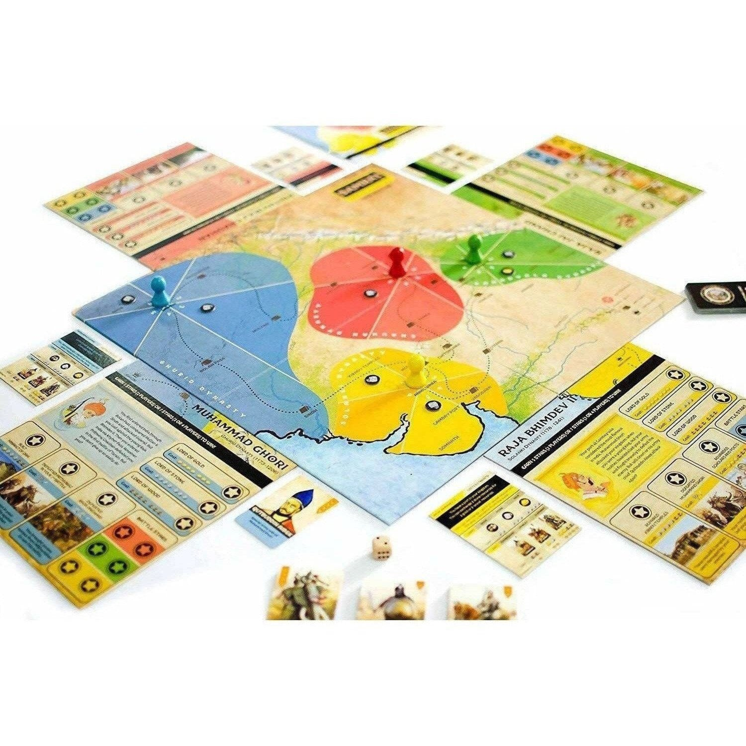 Samrat Strategy Board Game Based on Indian Kings History
