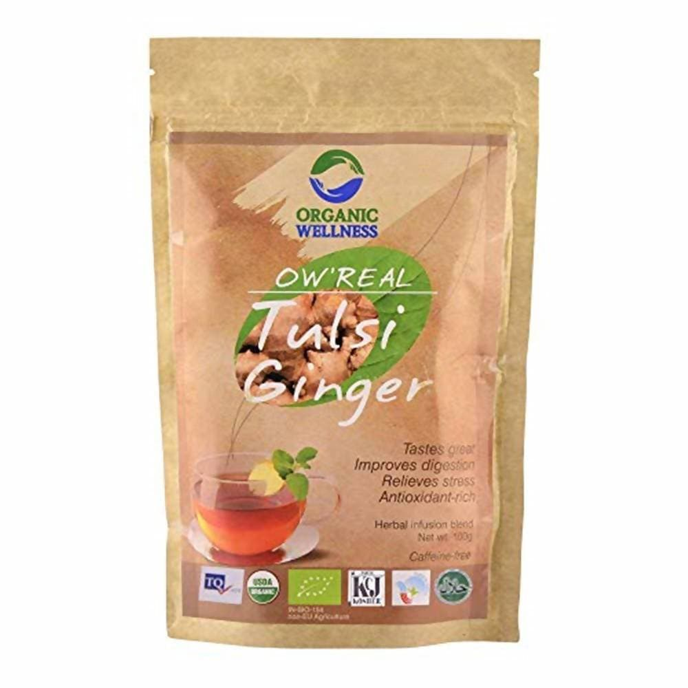 Organic Wellness Ow'Real Tulsi Ginger Leaf Tea