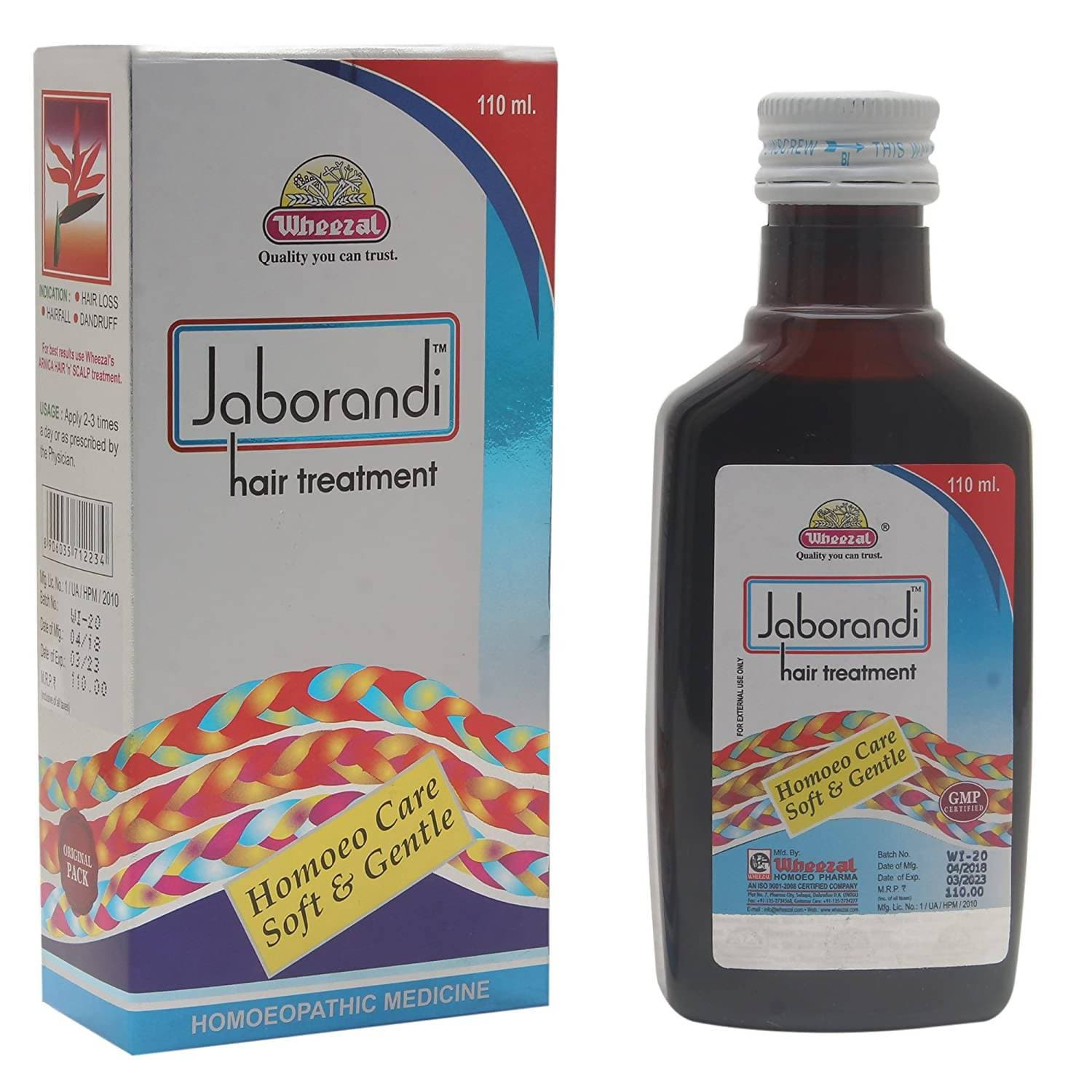 Wheezal Homeopathy Jaborandi Hair Treatment