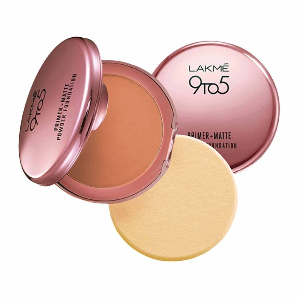 Lakme 9 To 5 Primer With Matte Powder Foundation Compact - Honey Dew - Distacart