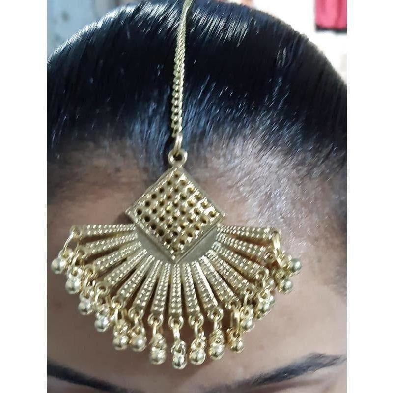 Gold Plated Bridal Maang Tikka