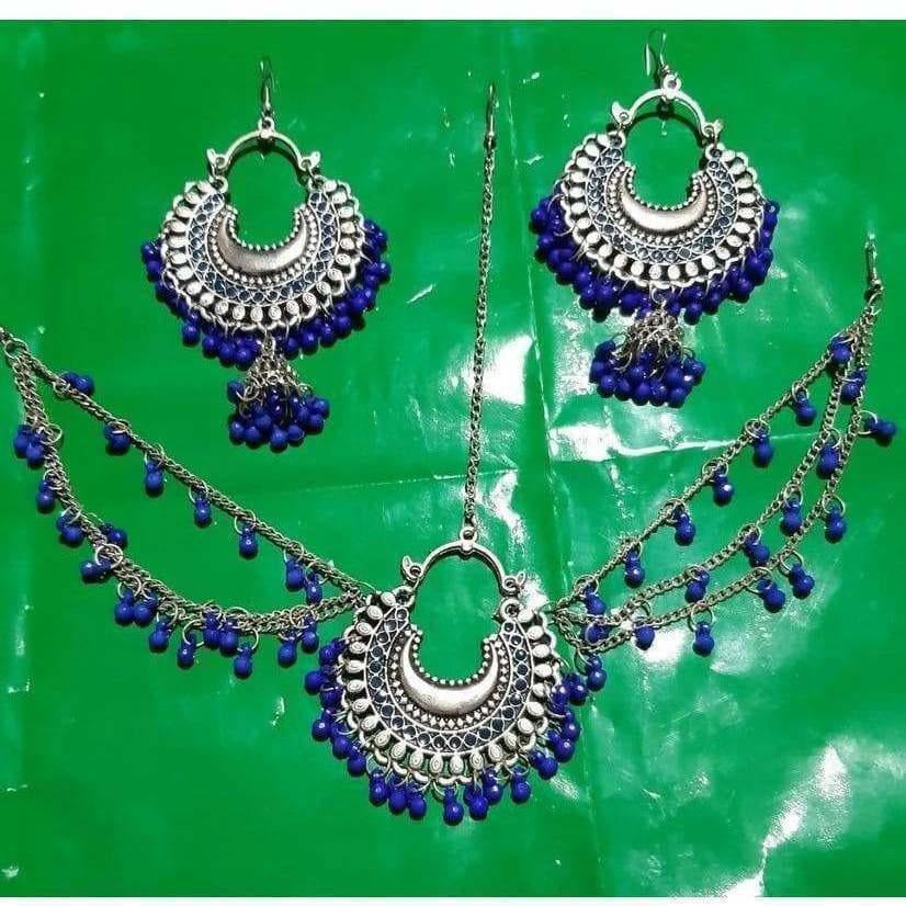 Latest traditional Jwellery set for women Color-Blue