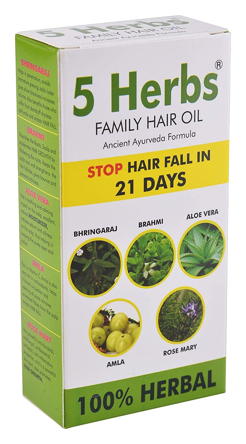 Anwita Herbal 5 Herbs Family Hair Oil Distacart