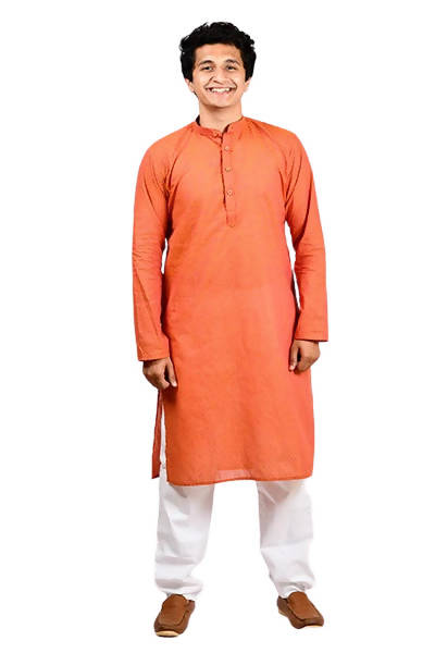 Byogi Dobby Butties Regular Red Kurta - Distacart
