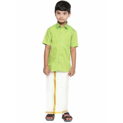 Ramraj Giza Cotton Set -Parrot Green