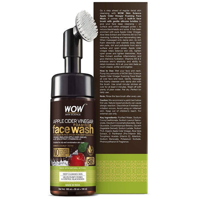 Wow Skin Science Apple Cider Vinegar Foaming Face Wash - Distacart