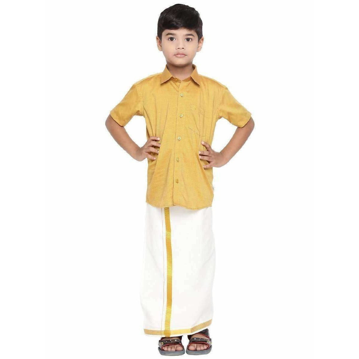 Ramraj Giza Cotton set - Giza Gold