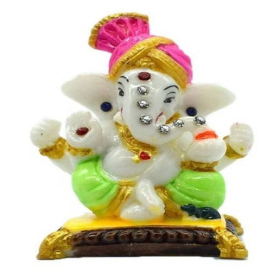 Puja N Pujari Lord Pagadi Ganesh Idol For Home Decor