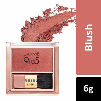 Lakme 9 To 5 Pure Rouge Blusher - Peach Affair - Distacart