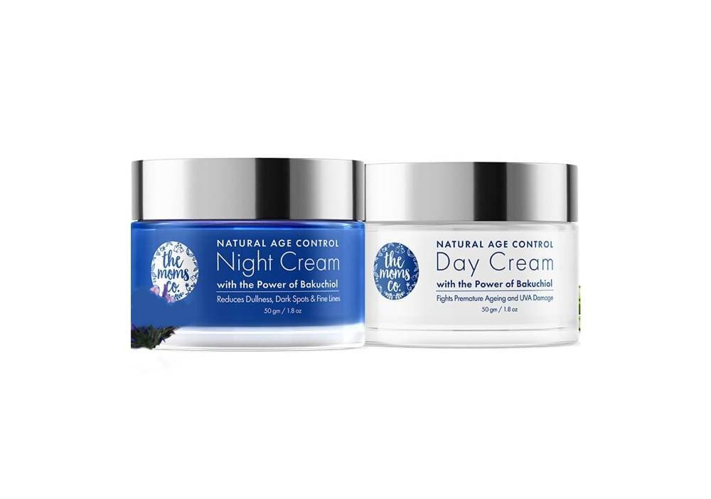 The Moms Co Natural Age Control Day And Night Care Combo - Distacart