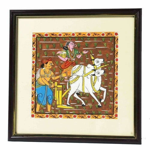 Cheriyal Painting of Former Working on Field - Dista Cart