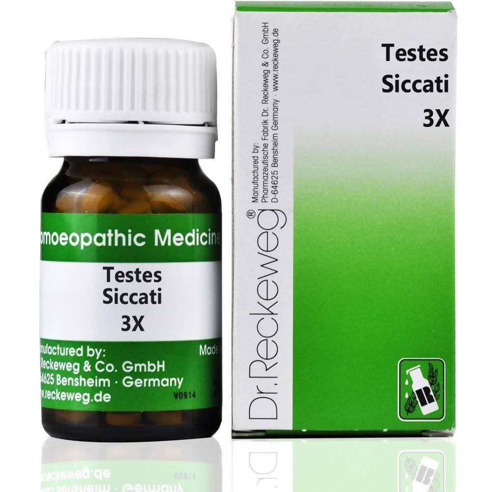 Dr. Reckeweg Testes Siccati Trituration 3X Tablet